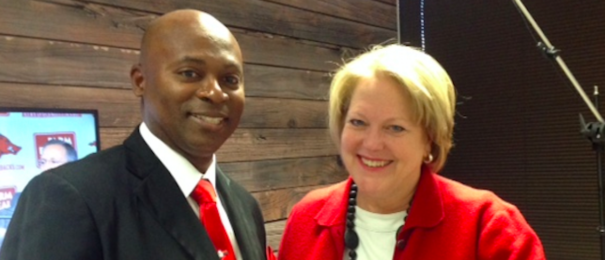 Ginni Thomas and Leon Benjamin. (Katie Frates/The Daily Caller News Foundation)