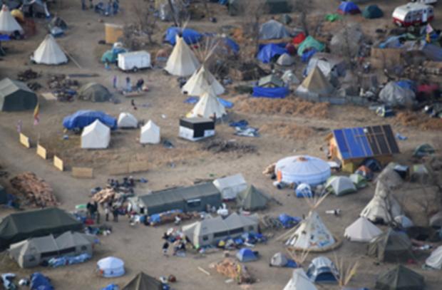 Dakota Access Pipeline encampment (Photo courtesy: Morton County Sheriff's Office)