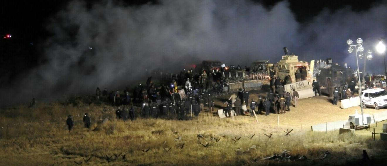 Protests at Dakota Access Pipeline (Photo Courtesy: Morton Count Sheriff's Dept.)