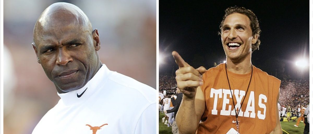 Charlie Strong, Matthew McConaughey (Credit: Getty Images)