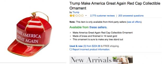 Trump MAGA Ornament (photo: Amazon Screen Shot)