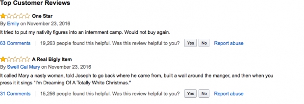 Trump ornament reviews (photo: Amazon Screenshot)