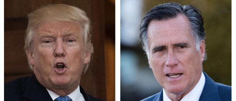Trump, Romney (Getty Images)