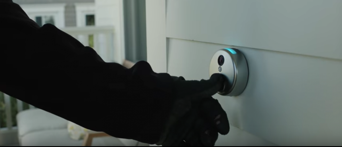 The SkyBell doorbell will help you thwart potential burglars (SkyBell/YouTube Screenshot)