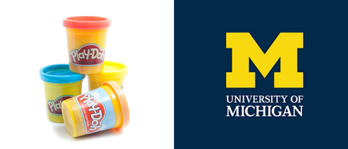 University of michigan play doh