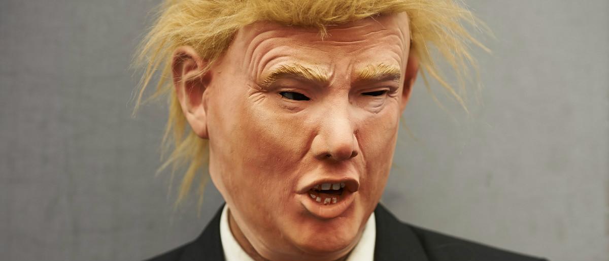 Trump mask Getty Images/NIKLAS HALLE'N