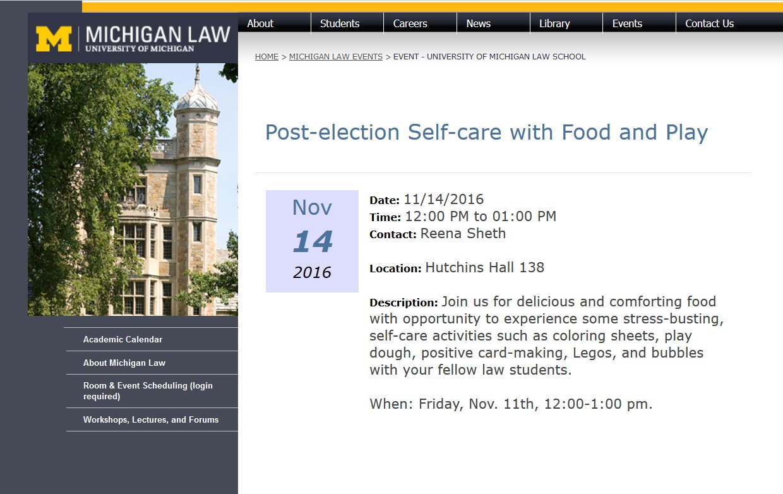 University of Michigan webpage Google cache version