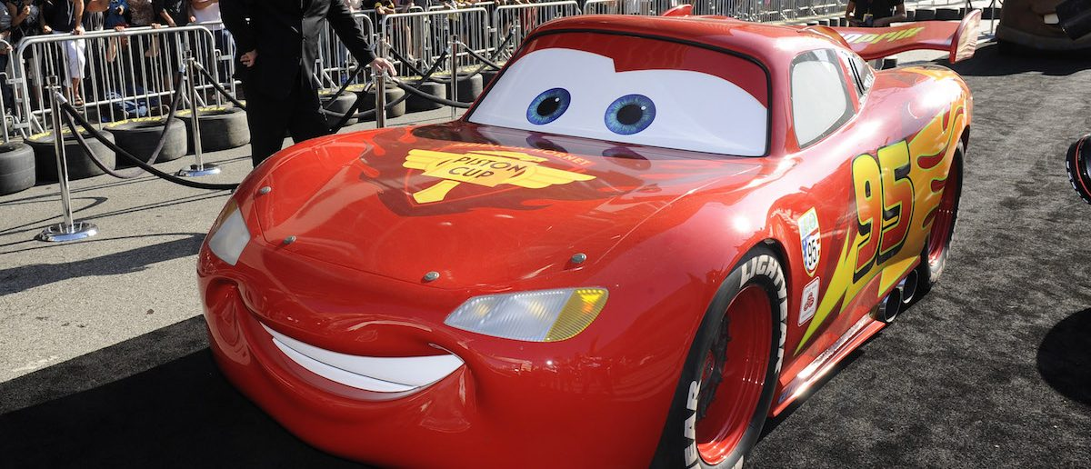 "Lightning McQueen, a character from the film "" Cars 2"", arrives at the premiere of the movie in Hollywood, California, June 18, 2011. REUTERS/Gus Ruelas"