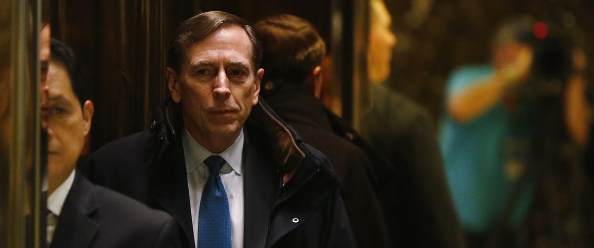 Former CIA director David Petraeus arrives to meet with U.S. President elect Donald Trump at Trump Tower New York