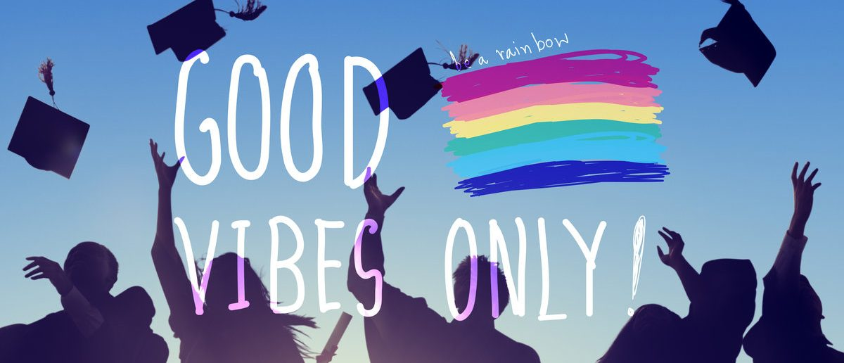 Good Vibes Only Inspirational Life Motivate And Safe Space Concept (Shutterstock/Rawpixel.com)
