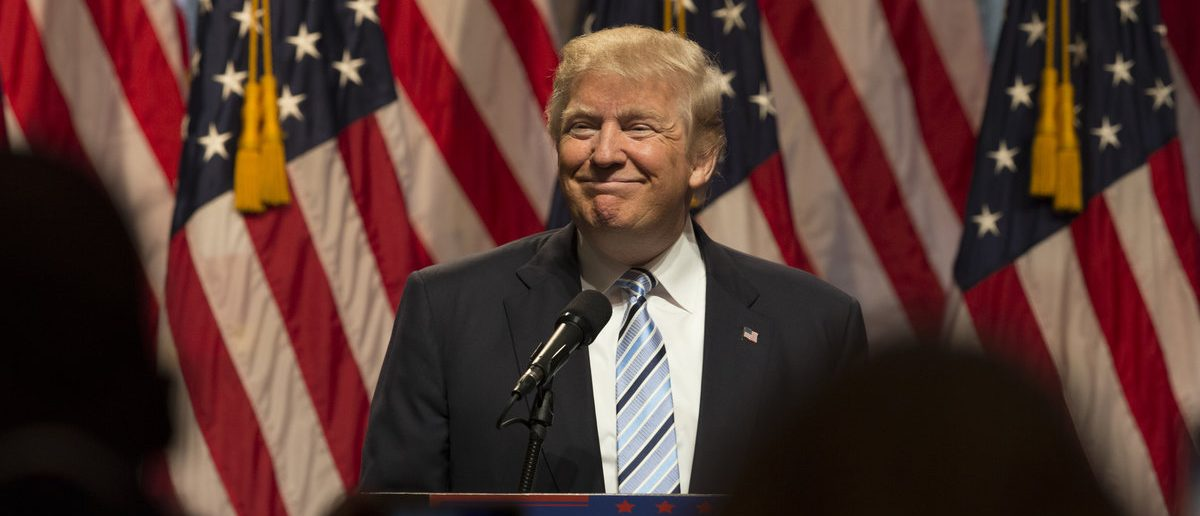 New York, NY USA - July 16, 2016: Donald Trump speaks during introduction Governor Mike Pence as running for vice president at Hilton hotel Midtown Manhattan (Lev radin/Shutterstock.com)