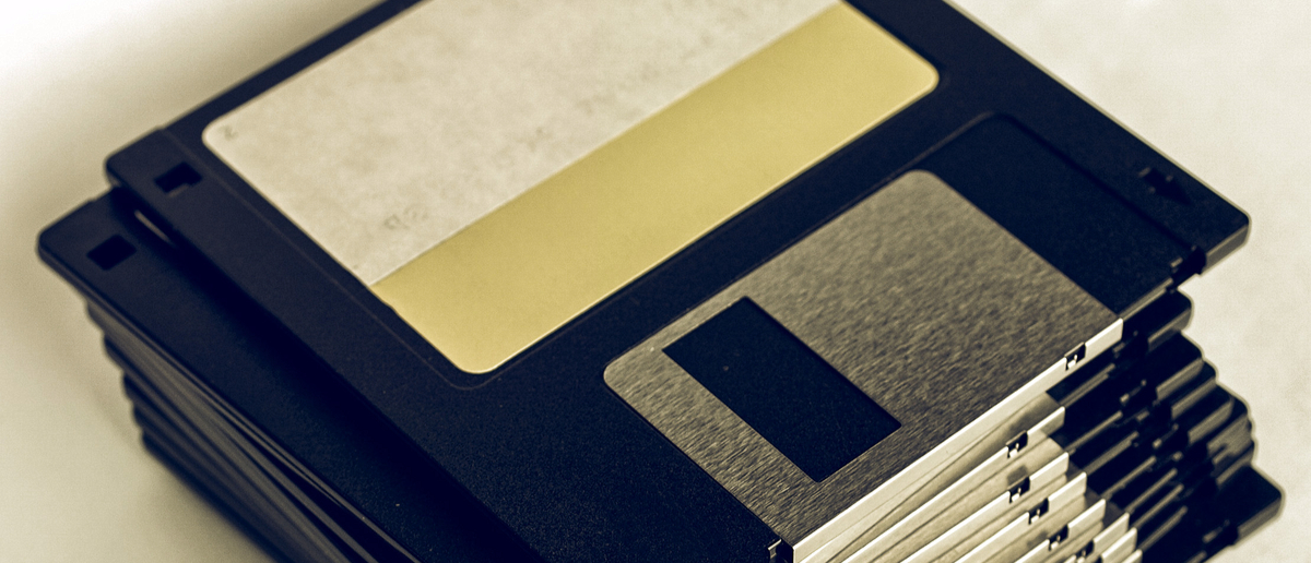 Old floppy disks (Photo: Claudio Divizia/Shutterstock)