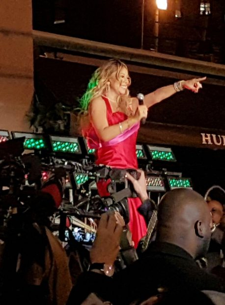 Mariah Carey makes a special appearance and performs at Hudson's Bay & Saks Fifth Avenue holiday window unveiling event in Toronto, Canada. This was Mariah Carey's 1st performance and public event since her split with billionaire James Packer. It is reported that Saks payed Mariah $1Million dollars to perform 2 songs at the event. Mariah was wearing a Red Dress & performed outside the Store to thousands of fans on Queen Street. <P> Pictured: Mariah Carey <B>Ref: SPL1387373 041116 </B><BR /> Picture by: 246Paps / Splash News<BR /> </P><P> <B>Splash News and Pictures