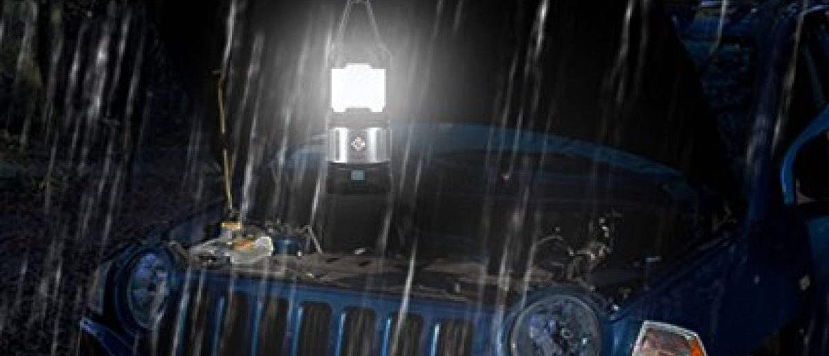 This camping lantern is built to withstand all weather conditions (Photo via Amazon)