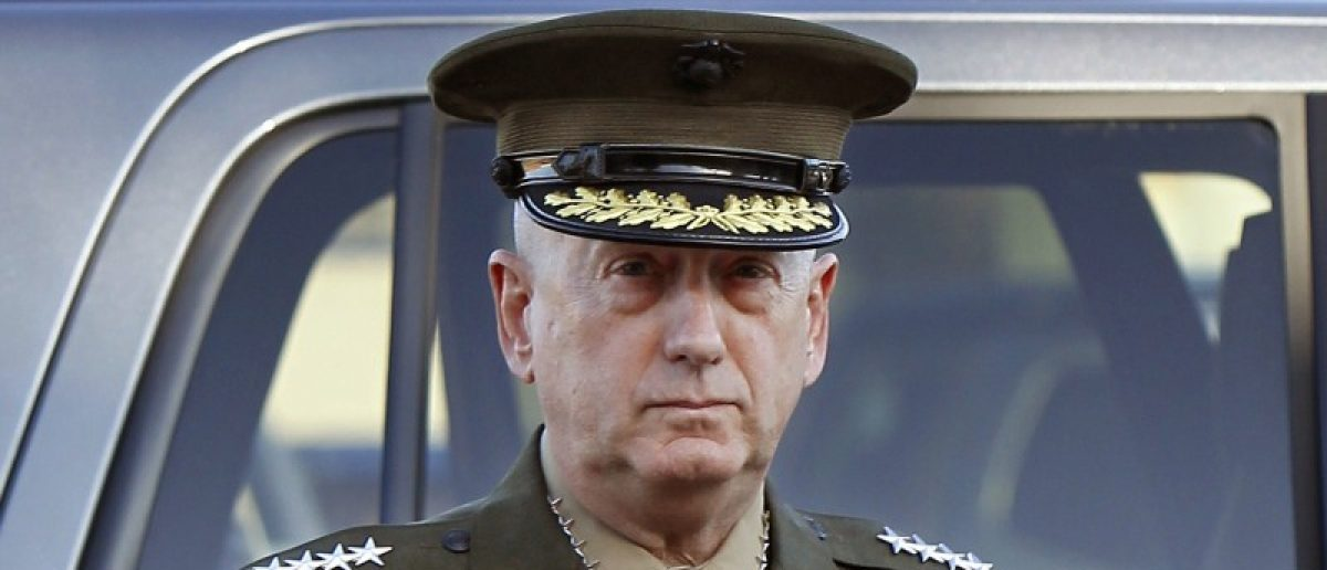 U.S. Marine Corps four-star general James Mattis arrives to address at the pre-trial hearing of Marine Corps Sgt. Frank D. Wuterich at Camp Pendleton, California U.S in a March 22, 2010 file photo.  REUTERS/Mike Blake/Files