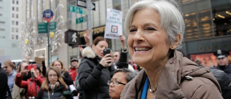 Green Party presidential nominee Jill Stein speaks during a news conference outside Trump Tower in Manhattan, New York City, December 5, 2016. REUTERS/Brendan McDermid