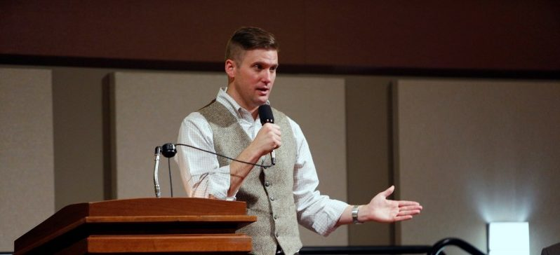 White nationalist leader Richard Spencer of the National Policy Institute speaks on campus at an event not sanctioned by the school, at Texas A&M University in College Station, Texas, U.S. December 6, 2016. REUTERS/Spencer Selvidge