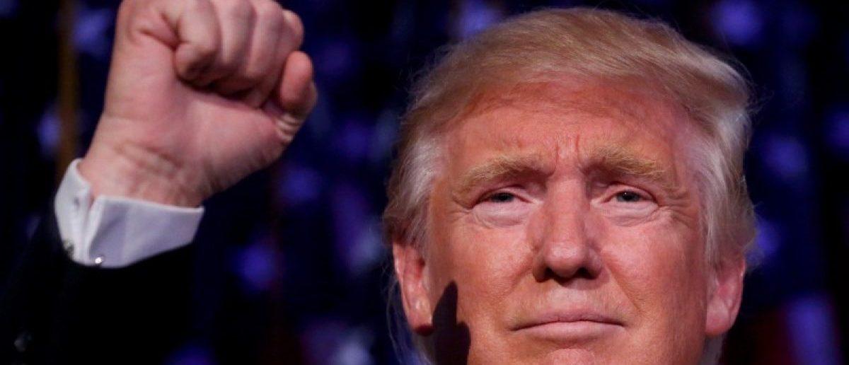 President-elect Donald Trump was 60 when his son Barron was born. REUTERS/Carlo Allegri