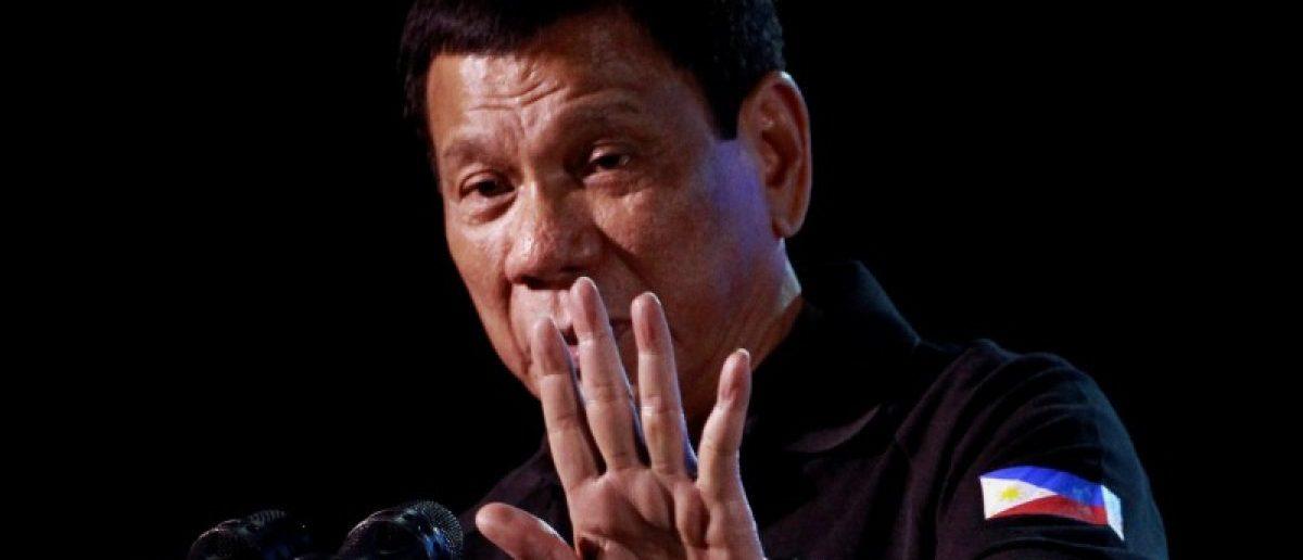 Philippine President Rodrigo Duterte speaks during a visit in Tarlac city in northern Philippines December 11, 2016. Picture taken December 11, 2016.   REUTERS/Czar Dancel