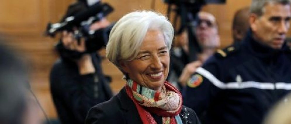Managing Director of the International Monetary Fund (IMF) Christine Lagarde is seen before the start of her trial about a state payout in 2008 to a French businessman, at the courts in Paris, France, December 12, 2016. REUTERS/Philippe Wojazer
