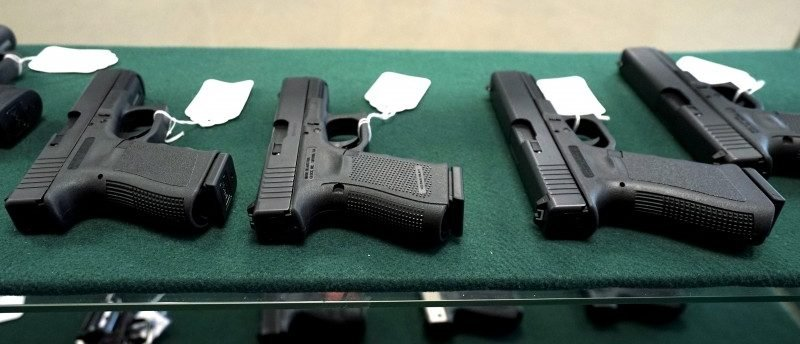 A selection of Glock pistols are seen for sale  REUTERS/Rick Wilking/File Photo