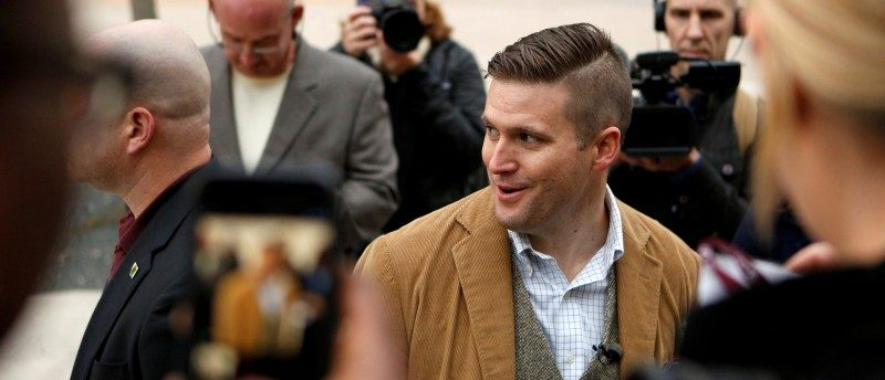 FILE PHOTO: Richard Spencer of the National Policy Institute arrives on campus to speak at an event not sanctioned by the school, at Texas A&M University in College Station, Texas, U.S. December 6, 2016. REUTERS/Spencer Selvidge/File Photo