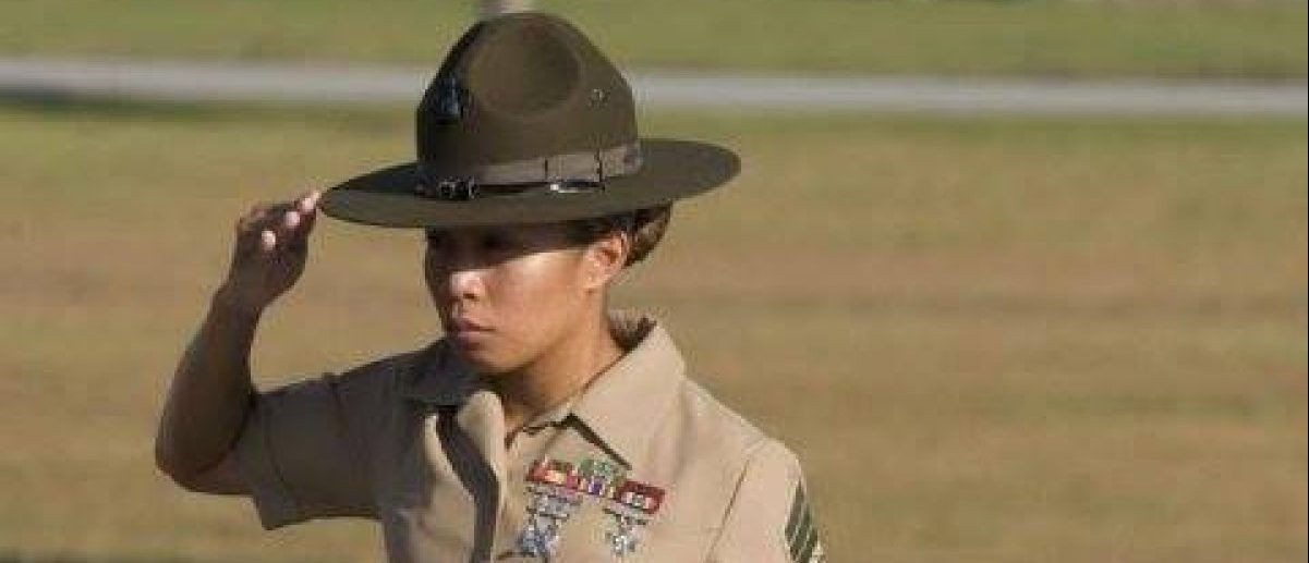 Staff Sergeant Amy Dillon while serving as a drill instructor at Parris Island. Courtesy: Amy Dillon