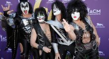 """Gene Simmons's wife said the group was asked to attend but declined. """"I think people should get over it and move on,"""" Simmons later tweeted. """"He's our president and that's it, end of story."""" (Photo: Getty Images)"""