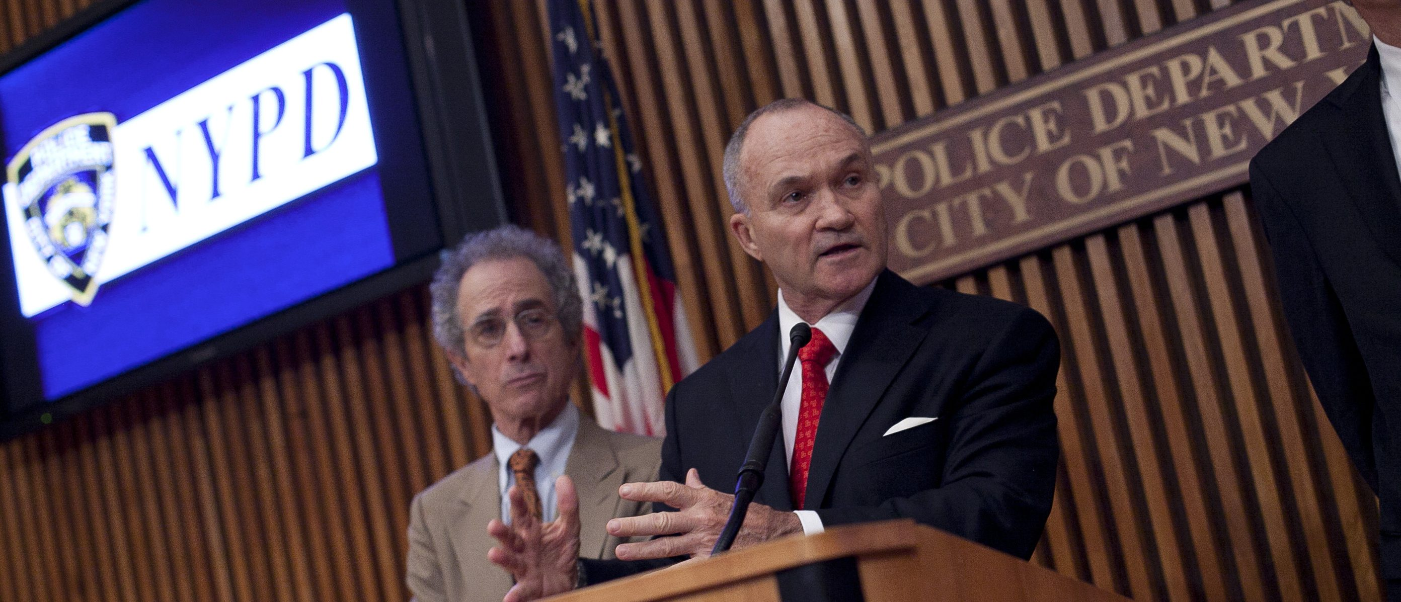 NEW YORK, NY - MAY 24: New York City Police Commissioner Ray Kelly holds a news conference at Police Headquarters May 24, 2012 in in New York City. Kelly announced the arrest of Pedro Hernandez, who police say confessed to the 1979 killing of six-year-old Etan Patz. (Photo by Allison Joyce/Getty Images)