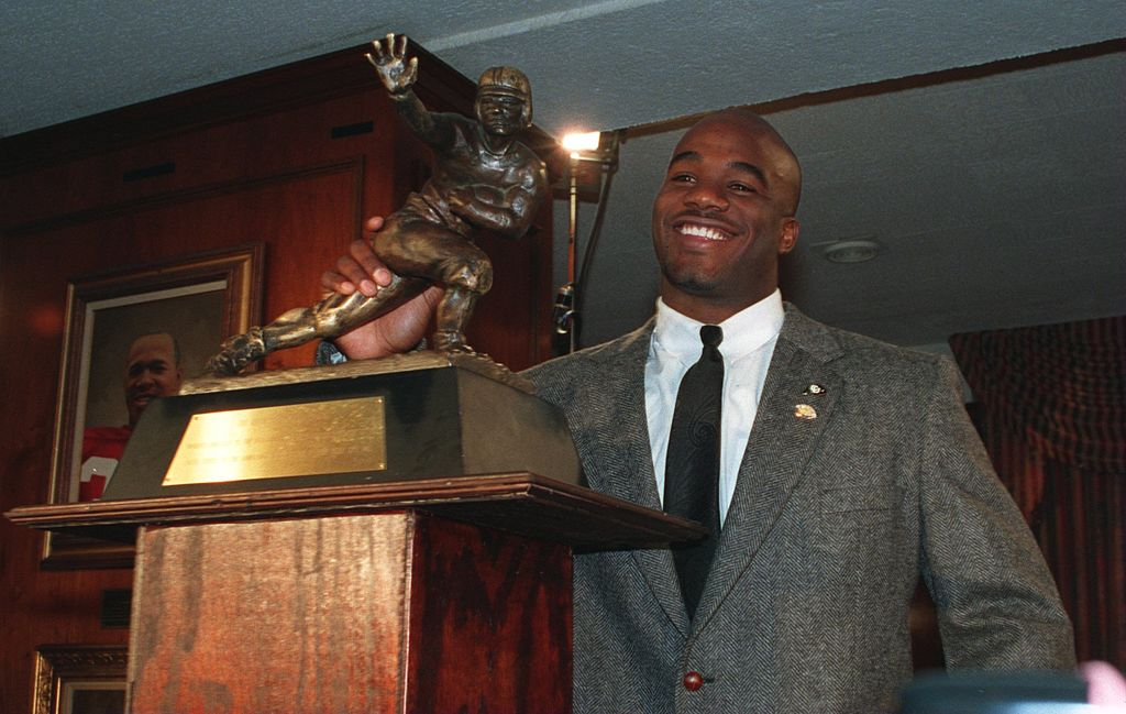 COLORADO RUNNING BACK RASHAAN SALAAM WITH THE HEISMAN TROPHY AFTER BEING NAMED AS THE 60TH WINNER OF THE AWARD AT THE DOWNTOWN ATHLETIC CLUB IN NEW YORK CITY NEW YORK. (Photo credit: Getty Images)