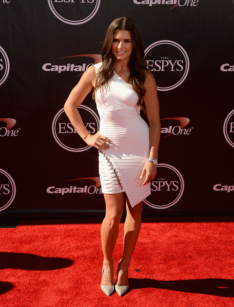 LOS ANGELES, CA - JULY 16: NASCAR driver Danica Patrick attends The 2014 ESPYS at Nokia Theatre L.A. Live on July 16, 2014 in Los Angeles, California. (Photo by Jason Merritt/Getty Images)