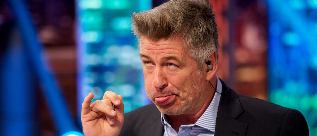 "MADRID, SPAIN - OCTOBER 02:  Alec Baldwin attends ""El Hormiguero"" TV show at Vertice Studio on October 2, 2014 in Madrid, Spain.  (Photo by Juan Naharro Gimenez/Getty Images)"