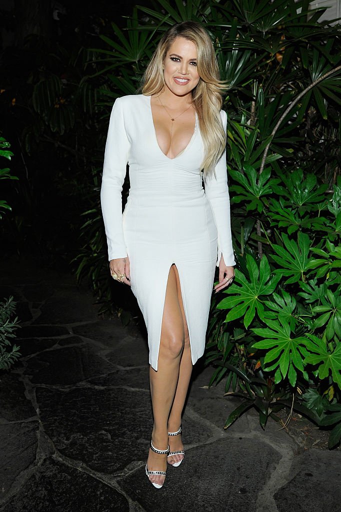 Khloe Kardashian attends Opening Ceremony and Calvin Klein Jeans' celebration launch of the #mycalvins Denim Series with special guest Kendall Jenner at Chateau Marmont on April 23, 2015 in Los Angeles, California. (Photo by John Sciulli/Getty Images for Calvin Klein)