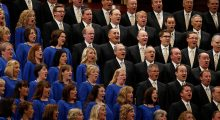 One member of the Mormon Tabernacle Choir quit after she found out that the group was required to perform at the inauguration. (Photo: Getty Images)