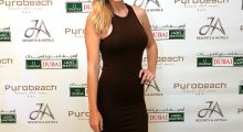 DUBAI, UNITED ARAB EMIRATES - DECEMBER 07:  Paige Spiranac of the United States during the welcome party at the Puro Beach Pool area at the Jebel Ali Golf Spa Resort as a preview for the 2015 Omega Dubai Ladies Masters on the Majlis Course at The Emirates Golf Club on December 7, 2015 in Dubai, United Arab Emirates.  (Photo by David Cannon/Getty Images)