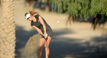 DUBAI, UNITED ARAB EMIRATES - DECEMBER 10:  Paige Spiranac of the United States plays her second shot on the par 4, 14th hole during the second round of the 2015 Omega Dubai Ladies Masters on the Majlis Course at The Emirates Golf Club on December 10, 2015 in Dubai, United Arab Emirates.  (Photo by David Cannon/Getty Images)