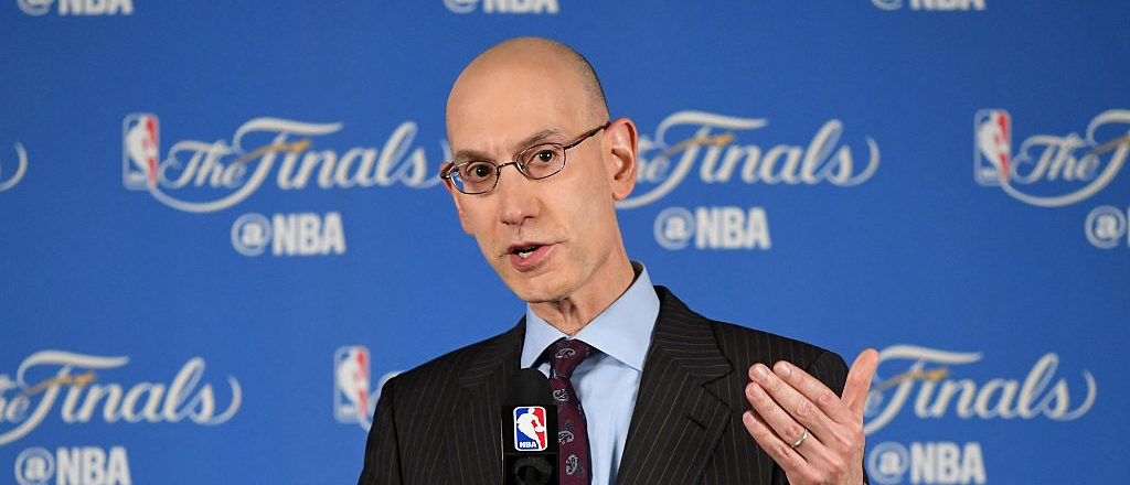 NBA Commissioner Adam Silver addresses the media before Game 1 of the 2016 NBA Finals at ORACLE Arena on June 2, 2016 in Oakland, California. The Cleveland Cavaliers take on the Golden State Warriors in the best of seven series. NOTE TO USER: User expressly acknowledges and agrees that, by downloading and or using this photograph, User is consenting to the terms and conditions of the Getty Images License Agreement. (Photo by Thearon W. Henderson/Getty Images)