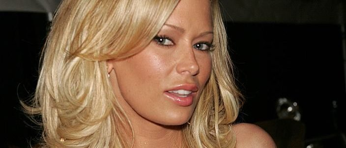 Adult film star Jenna Jameson backstage at the BCBG Max Azria Fall 2006 fashion show during Olympus Fashion Week at Bryant Park February 6, 2006 in New York City. (Photo by Scott Gries/Getty Images for BCBG Max Azria)