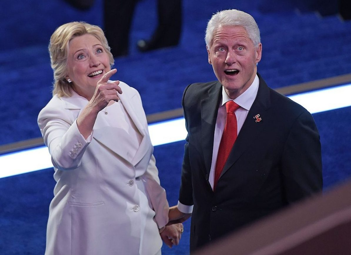 Bill and Hillary Clinton at the 2016 DNC (Getty Images)