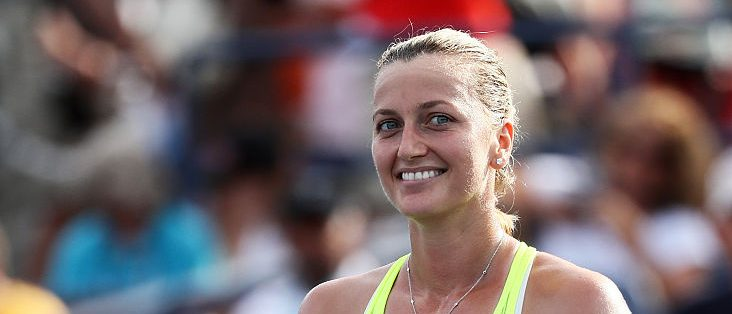 Petra Kvitova of the Czech Republic celebrates her win over Elina Svitolina of the Ukraine during her third round Women's Singles match on Day Five of the 2016 US Open at the USTA Billie Jean King National Tennis Center on September 2, 2016 in the Flushing neighborhood of the Queens borough of New York City. (Photo by Al Bello/Getty Images)