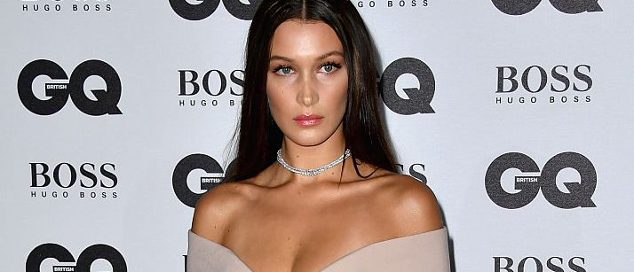 LONDON, ENGLAND - SEPTEMBER 06: Bella Hadid arrives for GQ Men Of The Year Awards 2016 at Tate Modern on September 6, 2016 in London, England. (Photo by Gareth Cattermole/Getty Images)