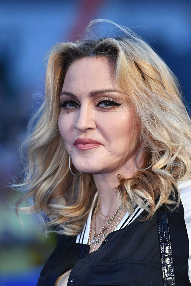 Madonna poses arriving on the carpet to attend a special screening of the film 'The Beatles Eight Days A Week: The Touring Years' in London on September 15, 2016. (BEN STANSALL/AFP/Getty Images)
