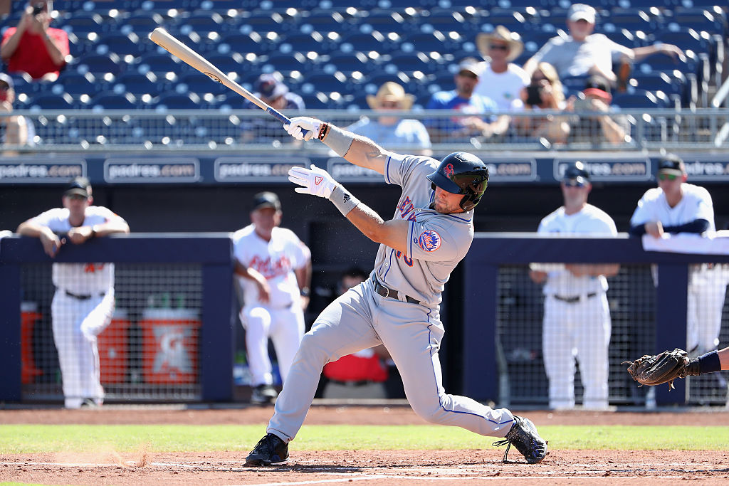 Tim Tebow #15 (New York Mets) of the Scottsdale Scorpions bats against the Peoria Javelinas during the Arizona Fall League game at Peoria Stadium on October 13, 2016 in Peoria, Arizona. (Photo by Christian Petersen/Getty Images)