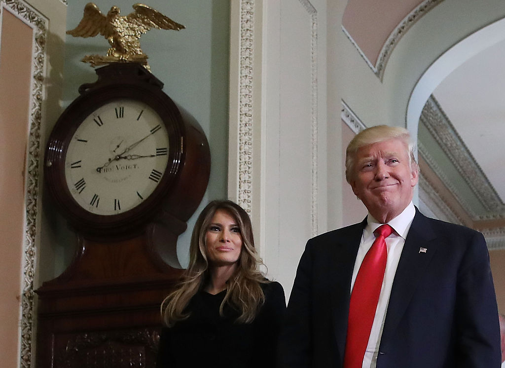 Donald and Melania Trump at the United States Capitol (Getty Images)