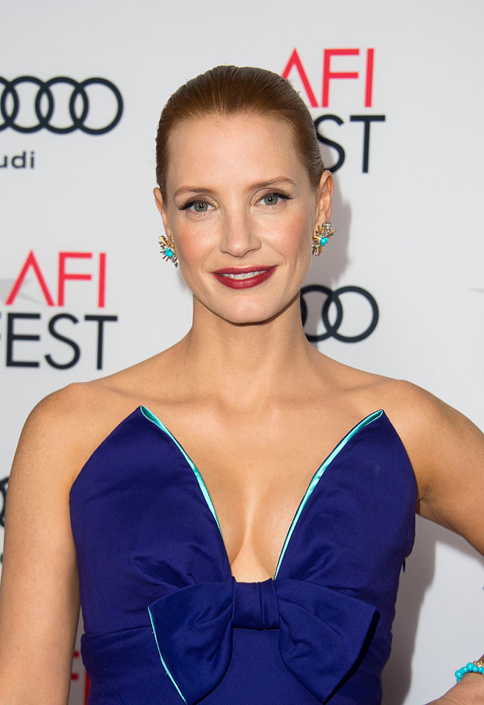 "Jessica Chastain attends the Premiere of ""Miss Sloane"" during the AFI Fest in Hollywood, California, on November 11, 2016 (Getty Images)"
