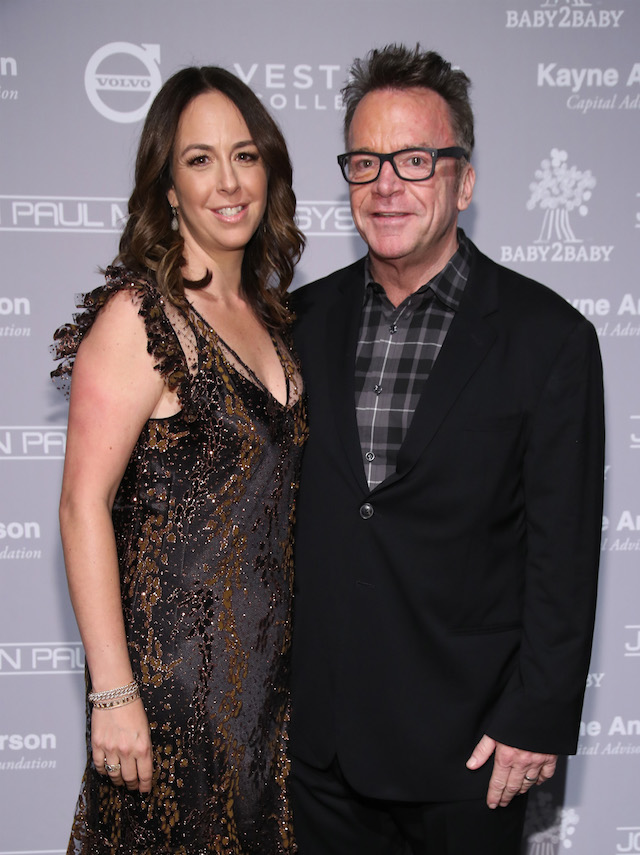 CULVER CITY, CA - NOVEMBER 12: Ashley Groussman (L) and actor Tom Arnold attend the Fifth Annual Baby2Baby Gala, Presented By John Paul Mitchell Systems at 3LABS on November 12, 2016 in Culver City, California. (Photo by Randy Shropshire/Getty Images for Baby2Baby)