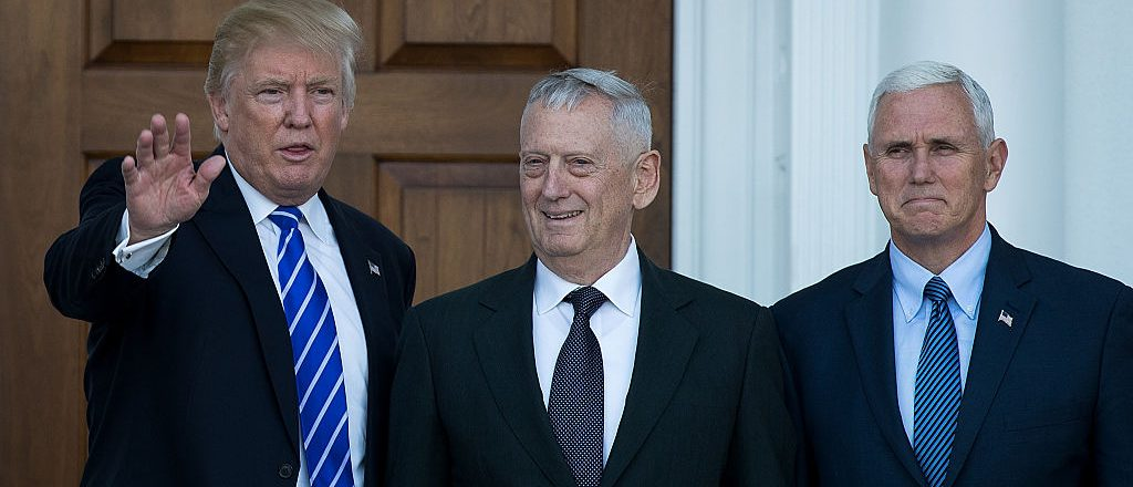 Donald Trump, James Mattis, Mike Pence (Getty Images)