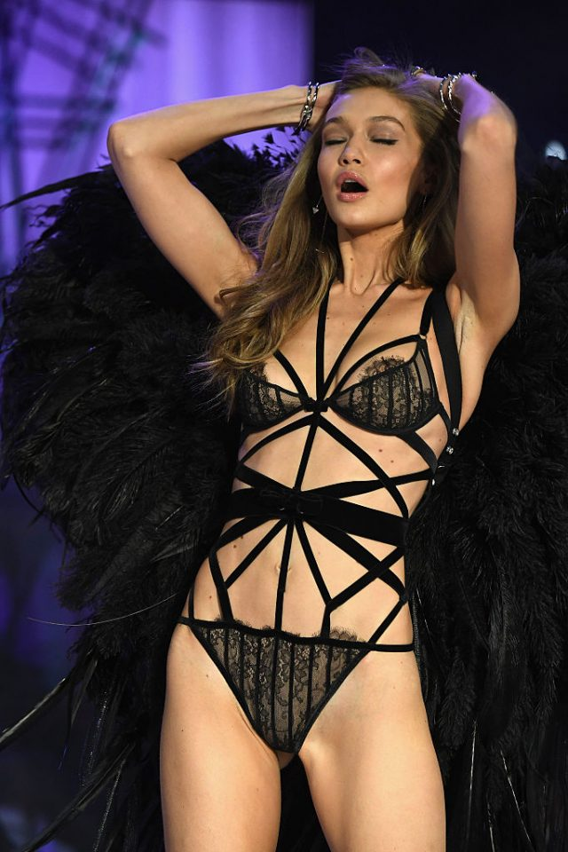 walks the runway at the Victoria's Secret Fashion Show on November 30, 2016 in Paris, France.