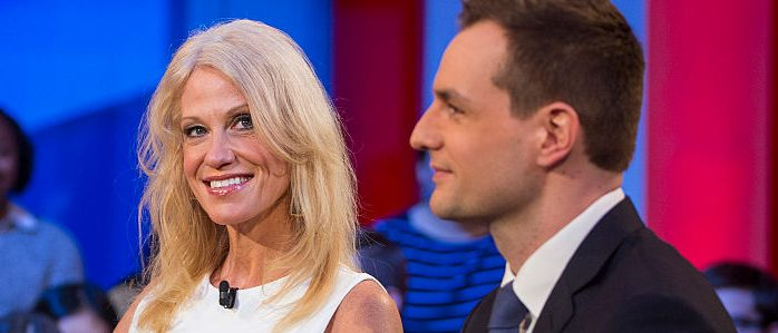 Kellyanne Conway and Robbie Mook (Getty Images)