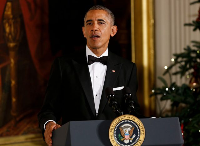 Barack Obama speaks at the Kennedy Center in Washington, DC on December 4, 2016 (Getty Images)